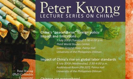 Peter Kwong Lecture Series on China