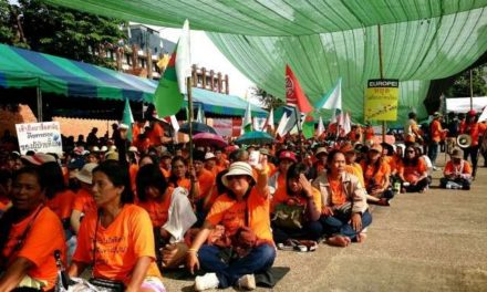 Activists rally against FTA: Thai officials urged to reject tough EU stance