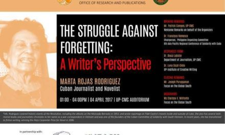 Event Invitation: The Struggle Against Forgetting – A Writer's Perspective