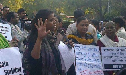 Women Condemn Modi, Demonstrate at Jantar Mantar against the PM-in-Stalking