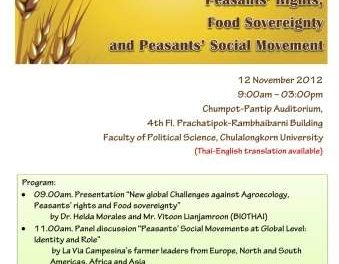 The Public Academic Forum on Agroecology, Peasants' Rights, Food Sovereignty and Peasants' Social Movement