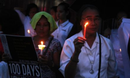 iDEFEND marks Philippine President Duterte's First 100 Days in Office with March, Candle Lighting, and Ringing of Bells