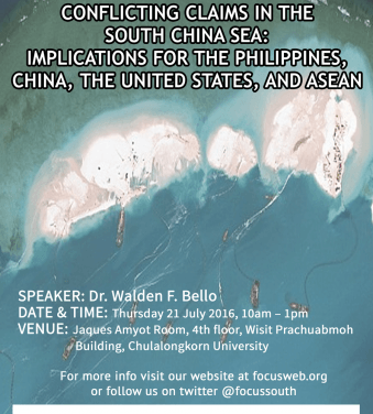 [Event Invitation] The Hague Tribunal Judgment on Conflicting Claims in the South China Sea: Implications for the Philippines, China, the United States, and ASEAN