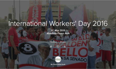 [In Photos] International Workers' Day 2016 – Manila, Philippines