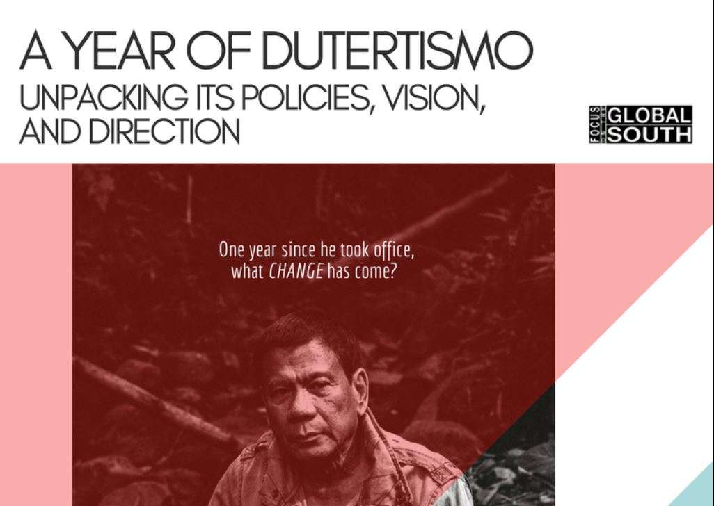 Presentations: A Year of Dutertismo, Unpacking its Policies, Vision, and Direction