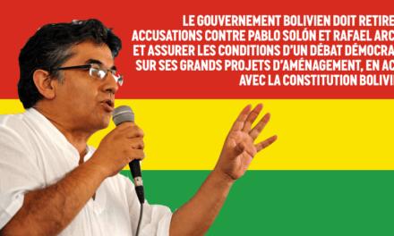 Solidarité avec notre ami bolivien Pablo Solón – Attac France