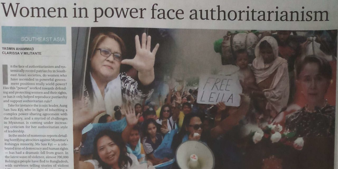 Women in power face authoritarianism