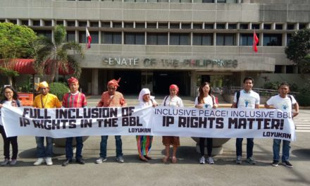 To have IP rights in BBL means inclusive peace, say Lumads