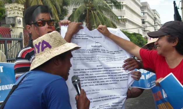 Farmers protest passage of Rice Tariffication Bill