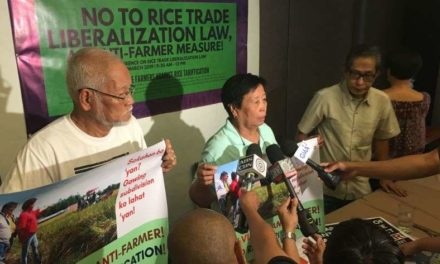 No to Rice Trade Liberalization Law,  An Anti-Farmer Measure!