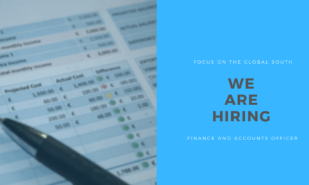 Job post: Finance and Accounts Officer