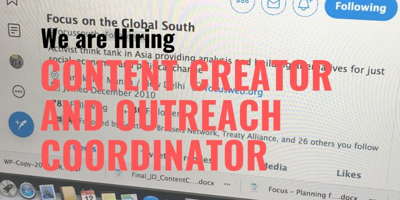 Job Post: Content Creator and Outreach Coordinator