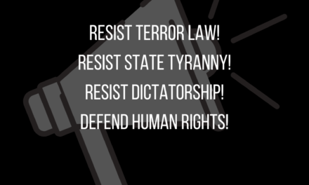 RESIST TERROR LAW!