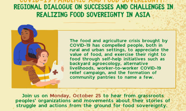 Regional Dialogue on Successes and Challenges in Realizing Food Sovereignty in Asia